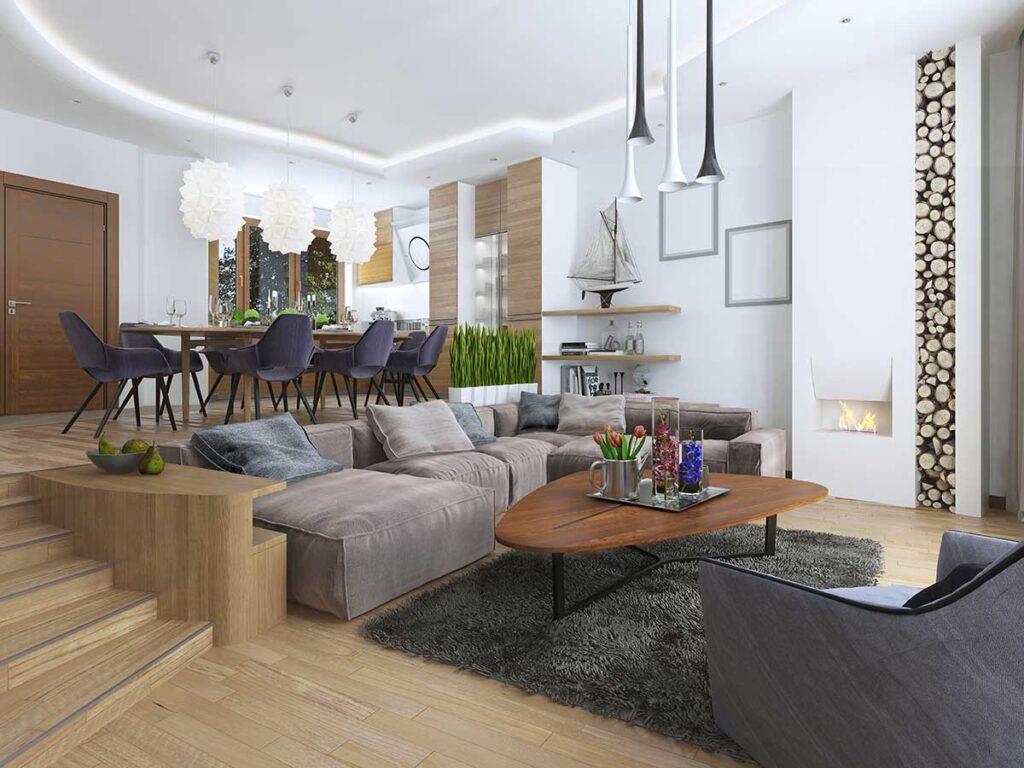 salotto ristrutturato appartamento