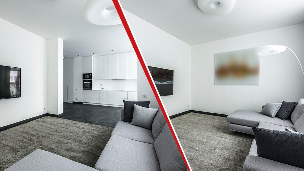 ristrutturazione appartamento 90 mq soggiorno