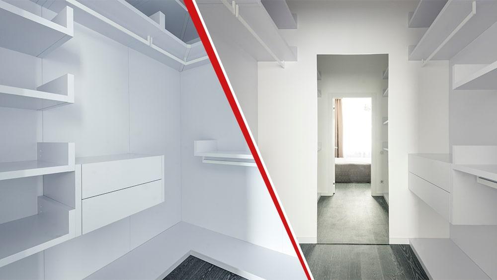 ristrutturazione appartamento 90 mq cabina armadio